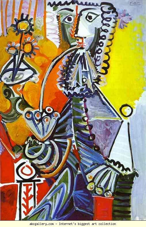 Pablo Picasso: Cavalier with Pipe.