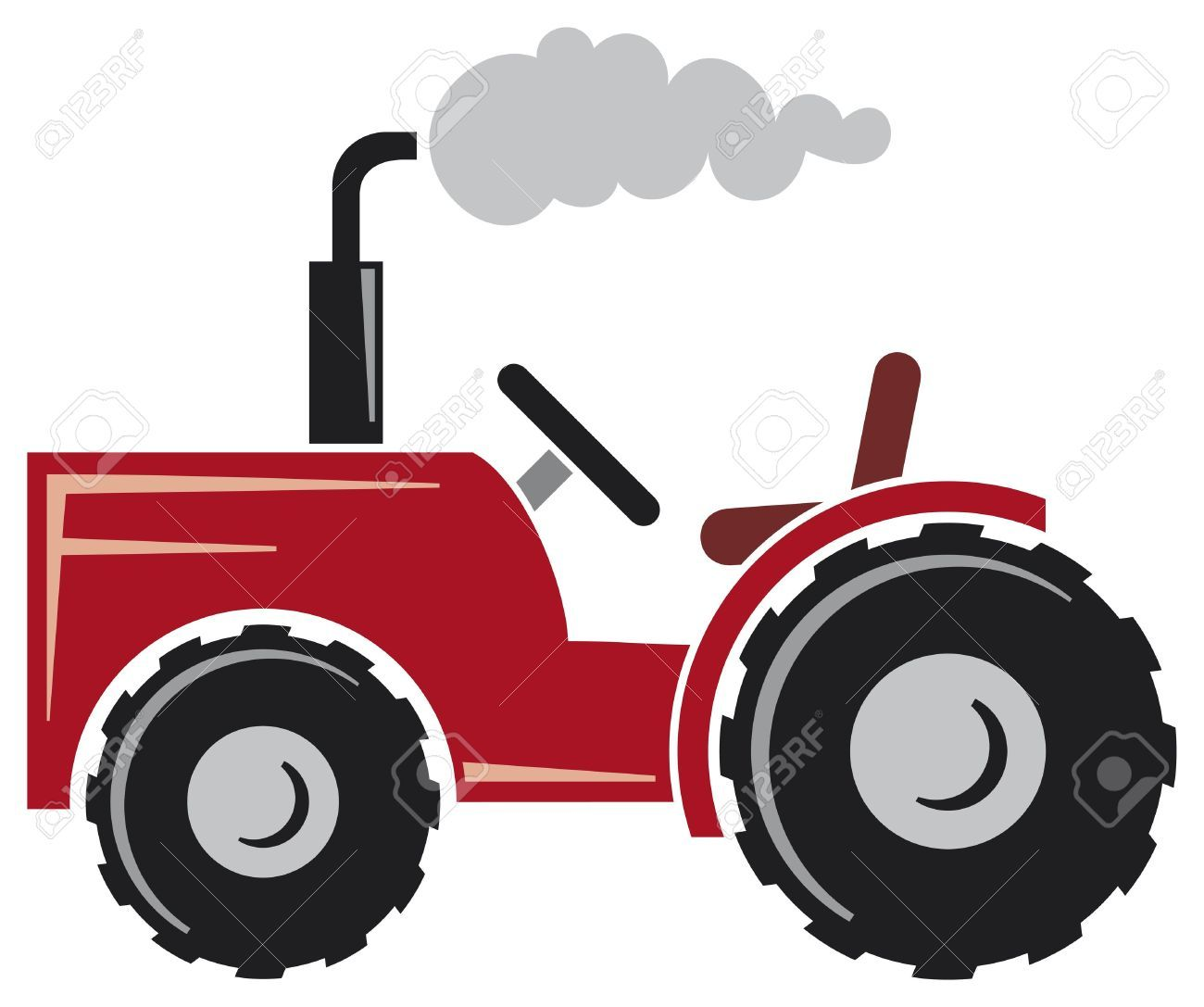 Tractor Cartoon Stock Vector Illustration And Royalty Free Tractor