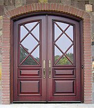 Exterior door with arch   Double Arched Top Exterior Wood Front ...