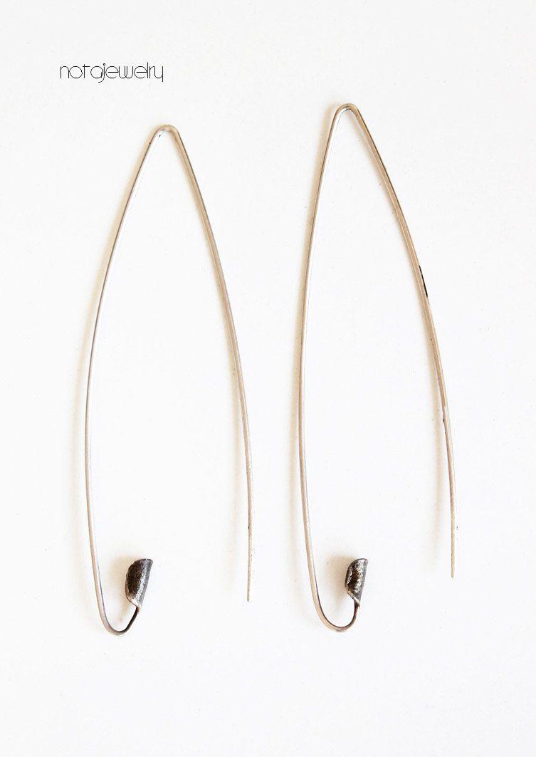 Perno d'argento orecchini Pin Orecchini orecchini d'argento