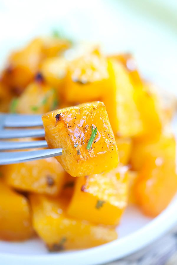 Honey Roasted Butternut Squash. Perfect Side Dishes - The Diary of a Real Housewife