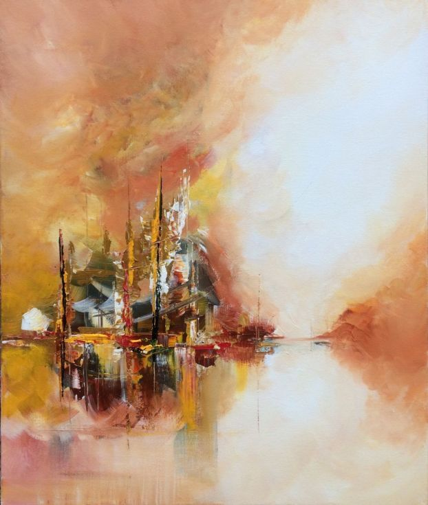 """Buy """" Somewhere 10"""" ,  Abstract Acrylic Painting - 50x60cm, Acrylic painting by Mo Tuncay on Artfinder. Discover thousands of other original paintings, prints, sculptures and photography from independent artists."""