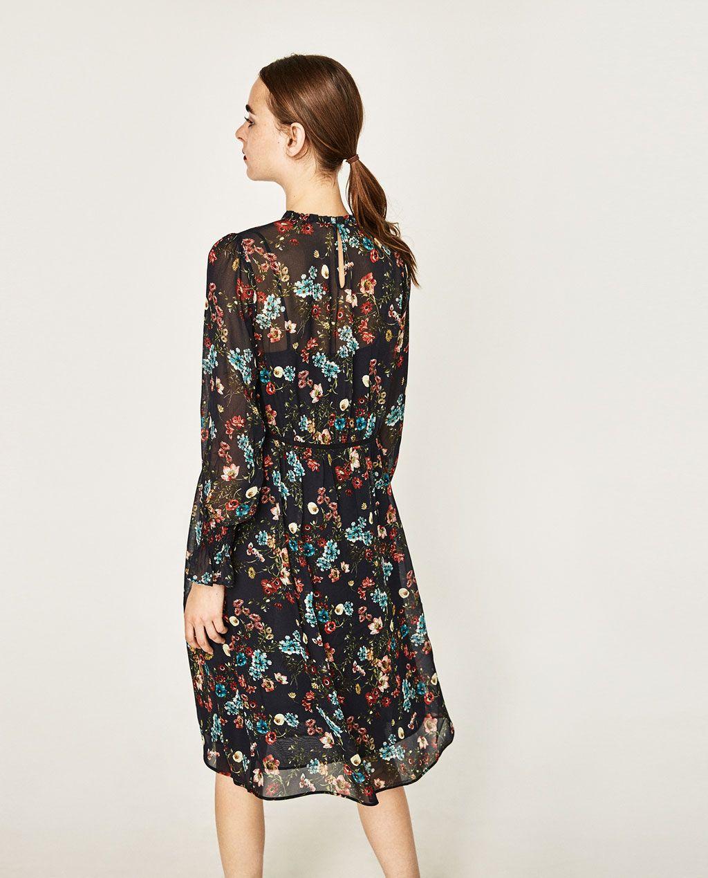 PRINTED MIDI DRESS-DRESSES-WOMAN | ZARA United Kingdom
