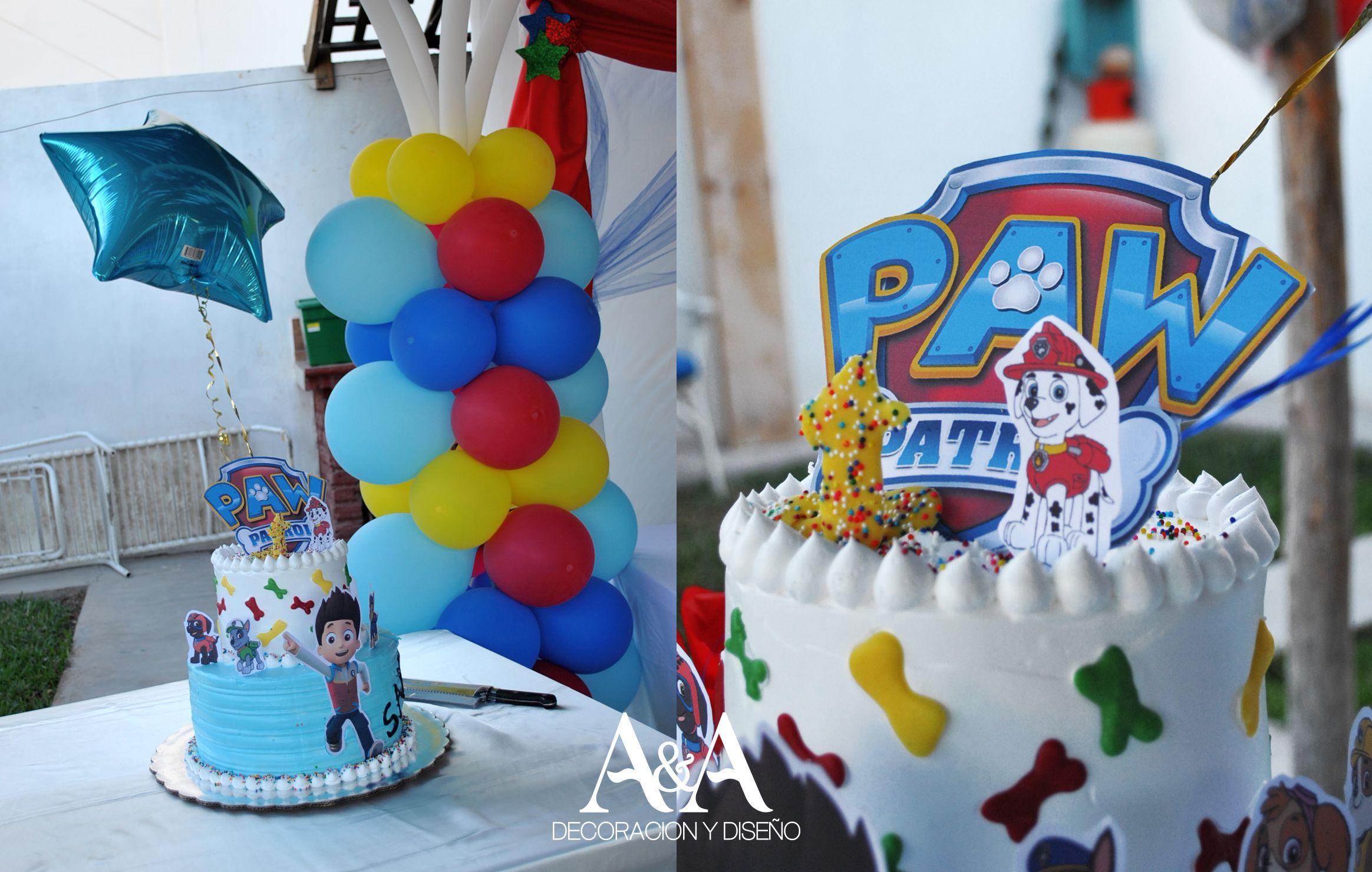 Pastel decorado con la tematica de paw patrol patrulla for Decoracion casa con ninos