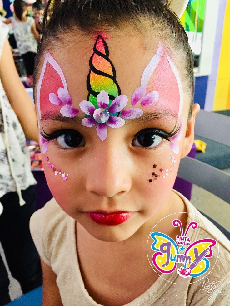 Simple Unicorn Face Paint : simple, unicorn, paint, Beautiful, Painting, Unicorn,, Easy,, Kitty, Paint