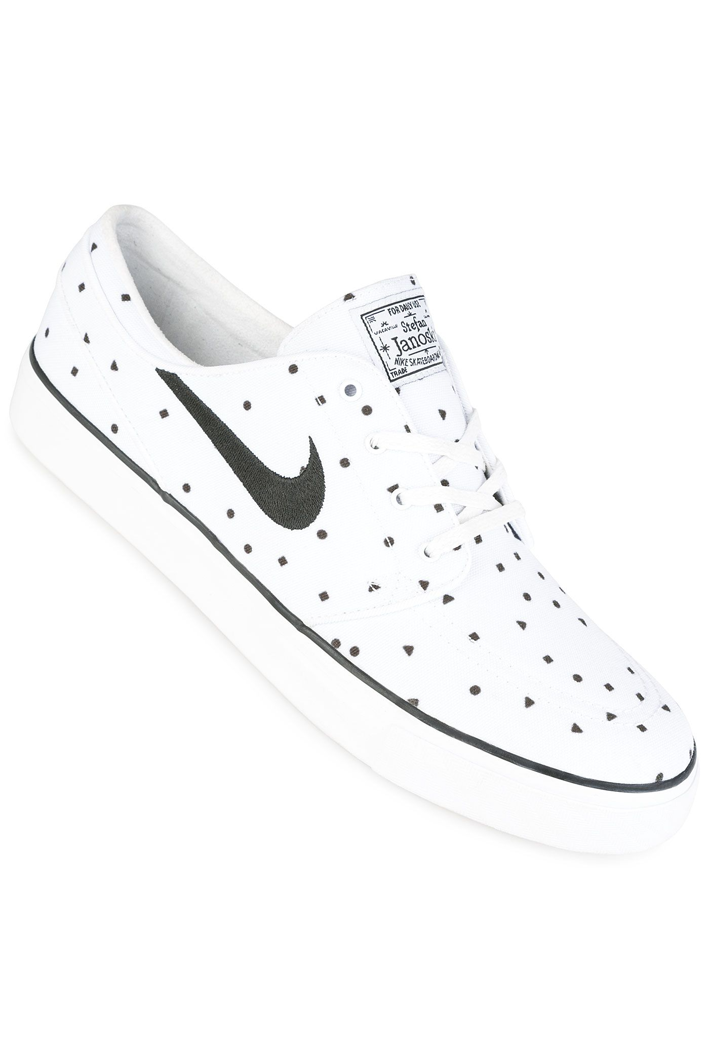 huge discount b2daa 90811 Nike SB Zoom Stefan Janoski Canvas Premium Shoe   Black   White Dots