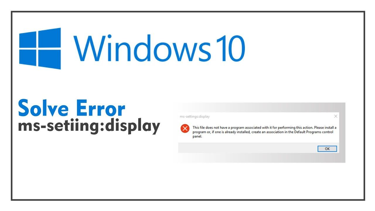 How to fix mssetting display error on windows 1087 in