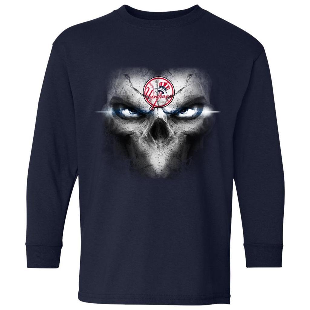 reputable site 2fd73 139fa New York Yankees Skulls Of Fantasy Logo T Shirts   New York ...