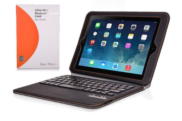 Bear Motion for iPad Air - Premium SLIM Folio Case with Detachable