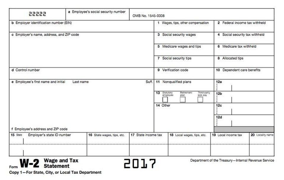 How To Read And Understand Your Form W 2 At Tax Time Tax Forms