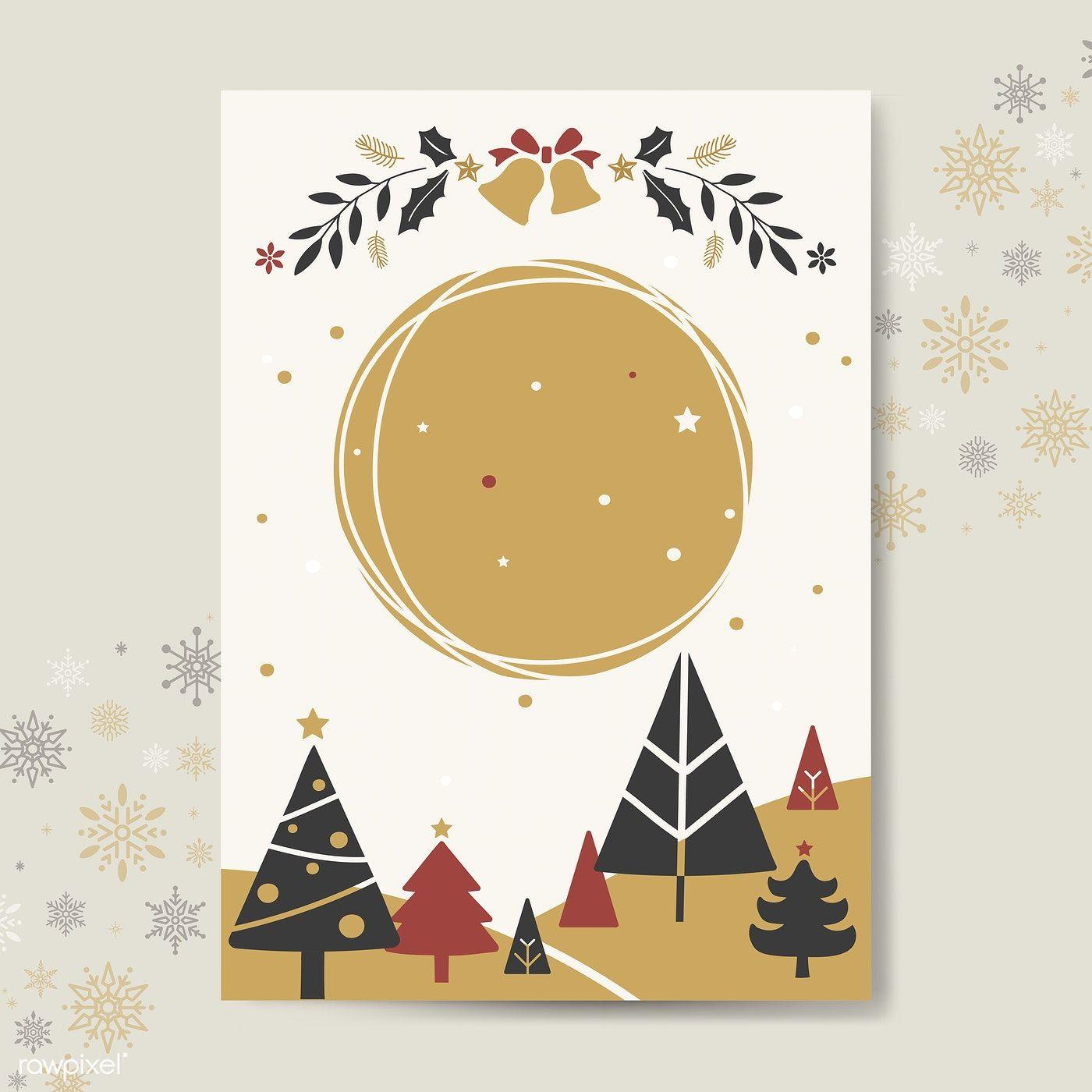 Christmas greeting card mockup vector free image by