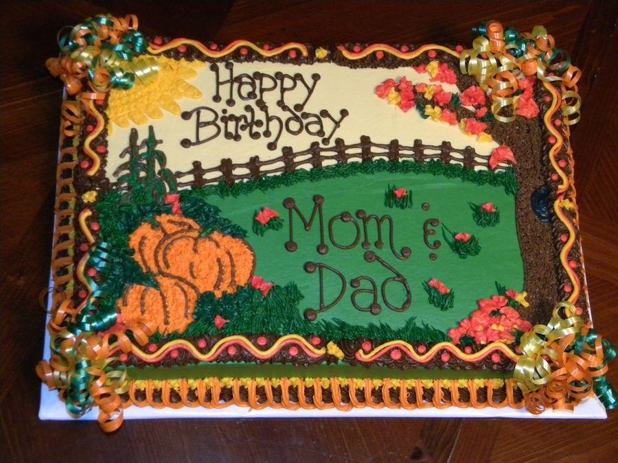 FallThemed Cakes Fall Themed Birthday Birthday Cakes cakes