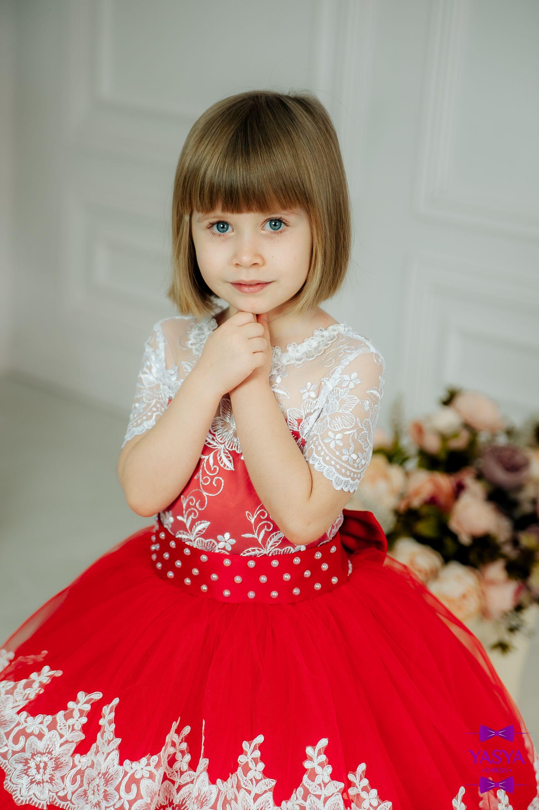 035c617113f8e Red flower girl Dress. Wedding Party Dress for girl.Luxury Children ...