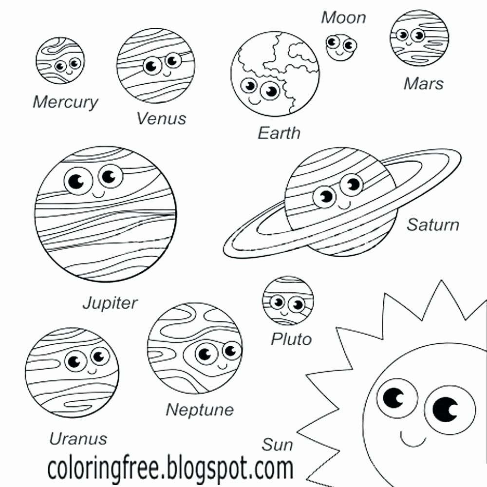 Moon Coloring Pages For Preschoolers New Mars Coloring Pages