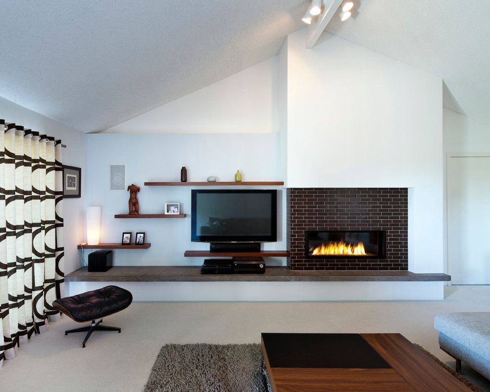 Refacing Fireplace Living Room Modern With Area Rug Black And White