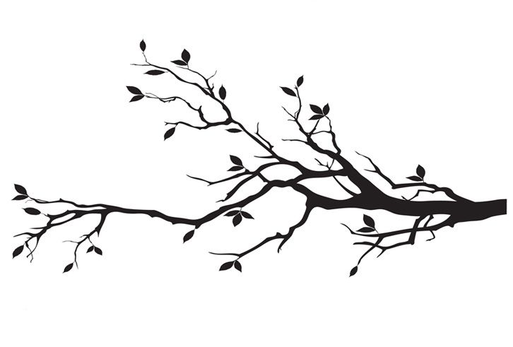 tree branch silhouette - Google Search | Paintings ...