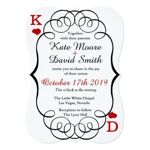 Las Vegas Wedding Save The Date Cards Las Vegas Casino Modern Chic Photo  Wedding Invite