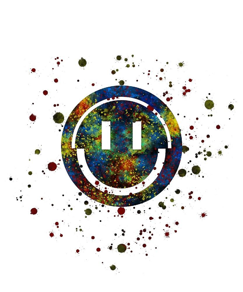 Apex Legends Pathfinder Logo Icon Splatter By Blackworkz Redbubble Logo Icons Anime Gifts Poster Art