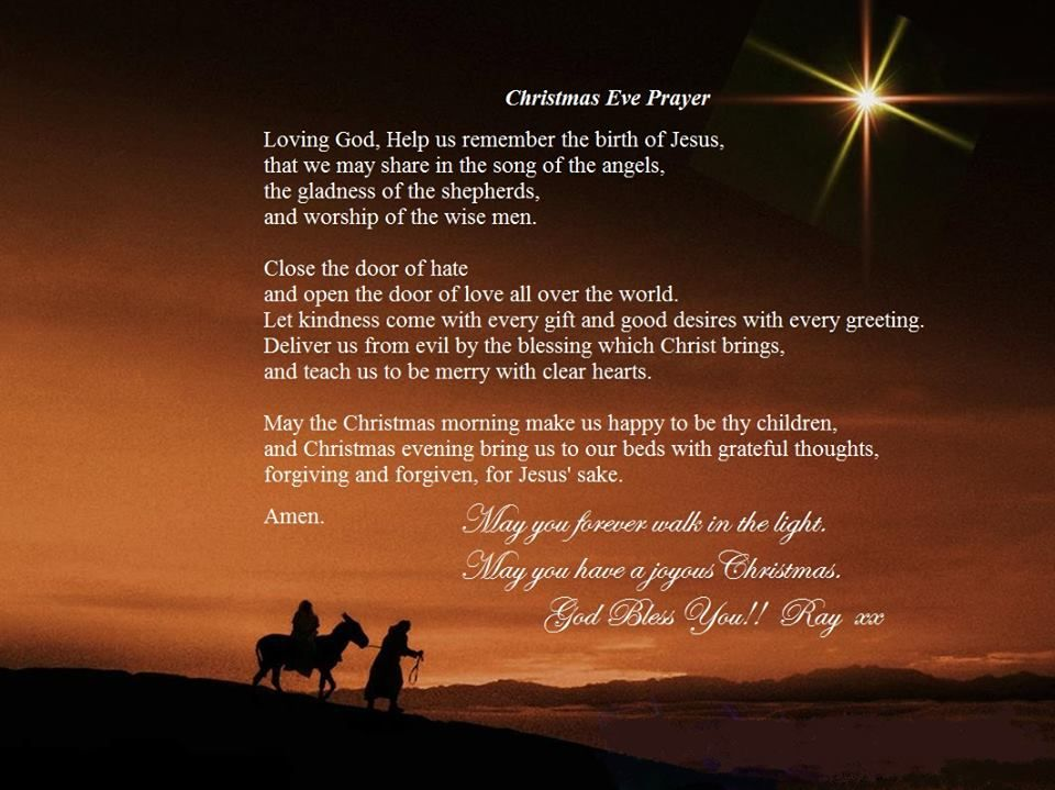 Christmas Eve Prayer Prayers Inspirational Quotes We Remember