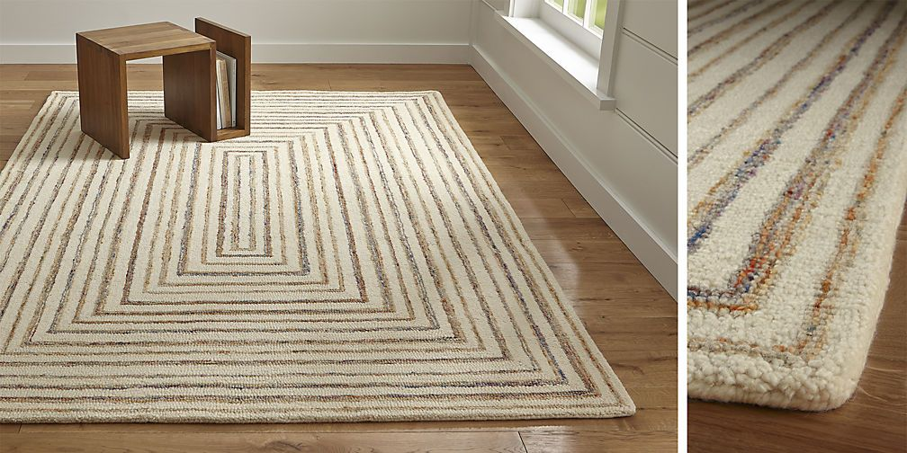 Tolliver Latte Rug Crate And Barrel Rugs Rugs Colorful Rugs