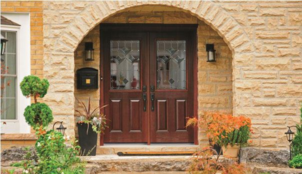 1900 homes with double front doors | Double exterior doors offer a ...