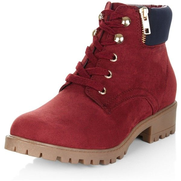 new look lace up ankle boots 36 liked on