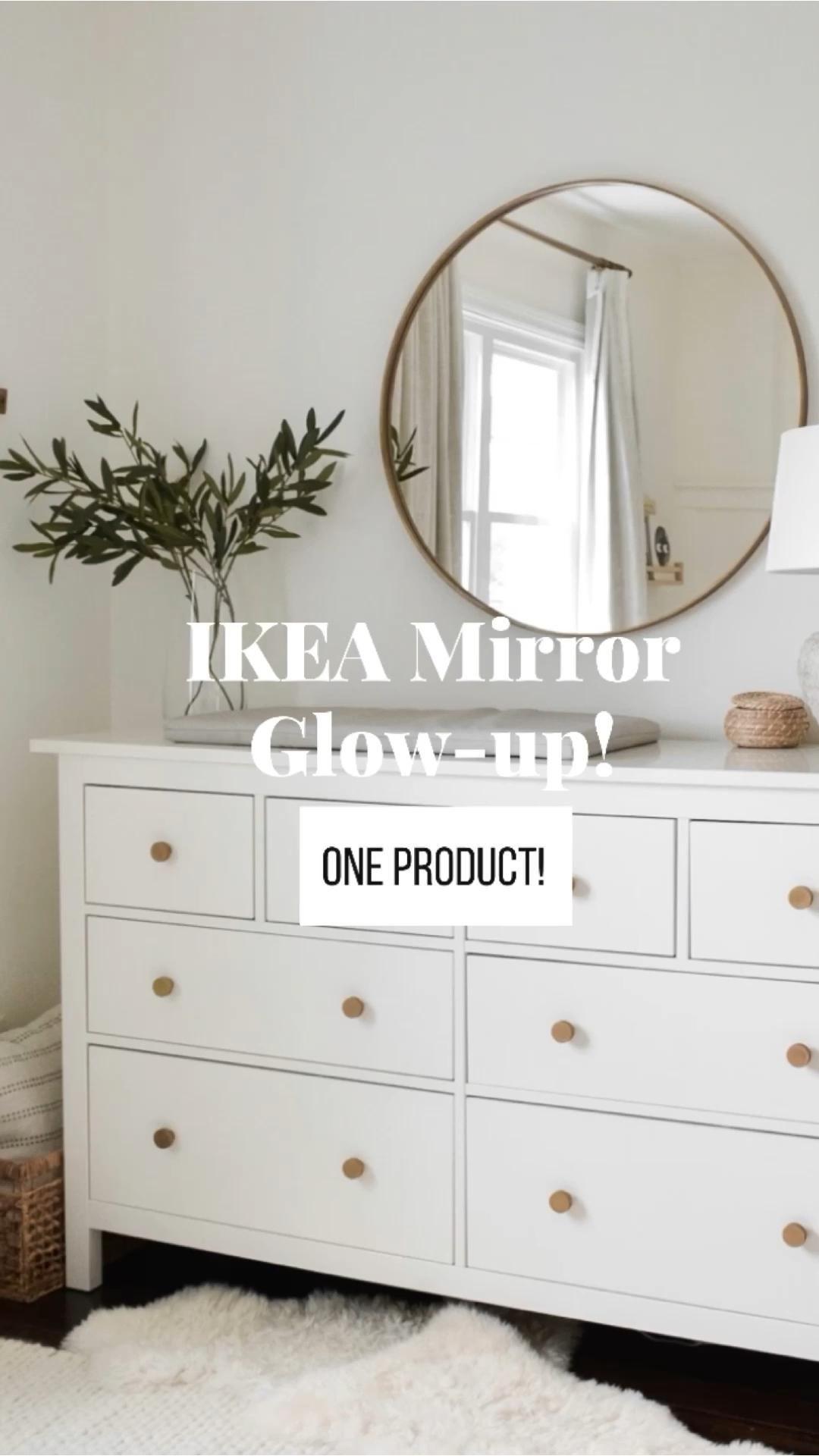 IKEA Mirror Glow-up in 1 step!