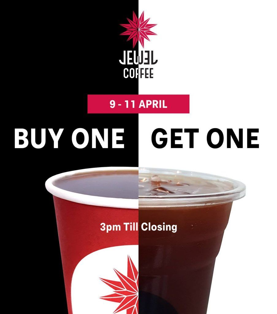 Jewel Coffee Singapore Buy One Get One Free Promotion 9 11 Apr 2018 Kopi Pecinta Kopi