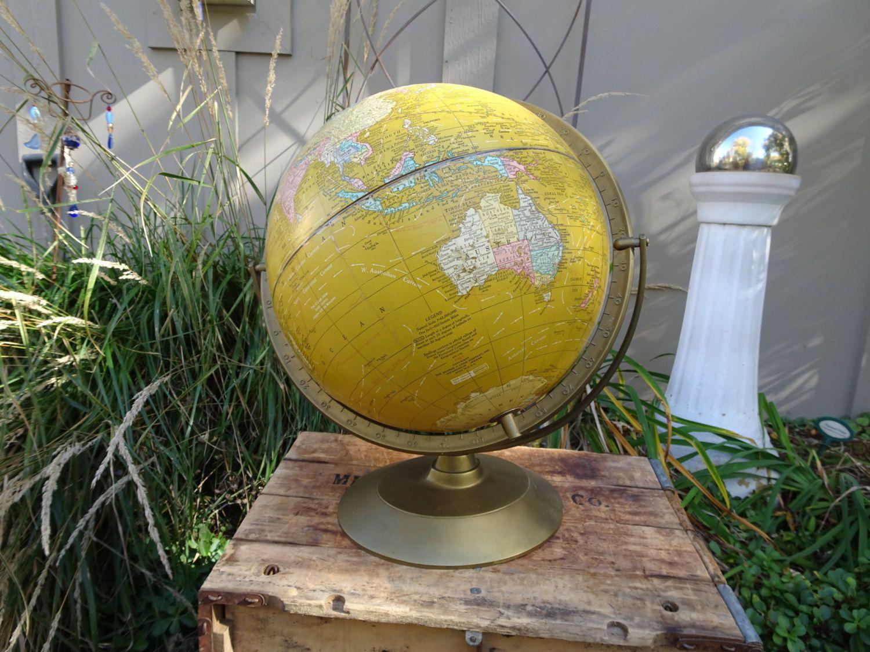 Cramu0027s Imperial 12 Inch World Globe | Vintage Globe | Imperial World Globe  | Office Decor