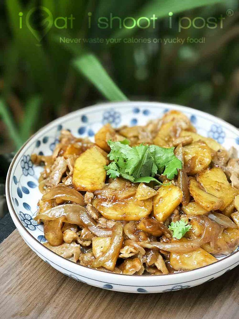 Stir Fried Potatoes and Pork: Simple Homecooked Meals - ieatishootipost