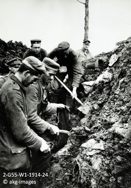 Image result for WW1 German soldiers digging trenches