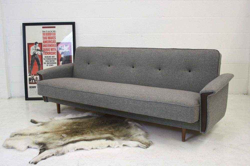 Red 1960s Danish Vintage Sofa Bed In Home Furniture Diy Sofas
