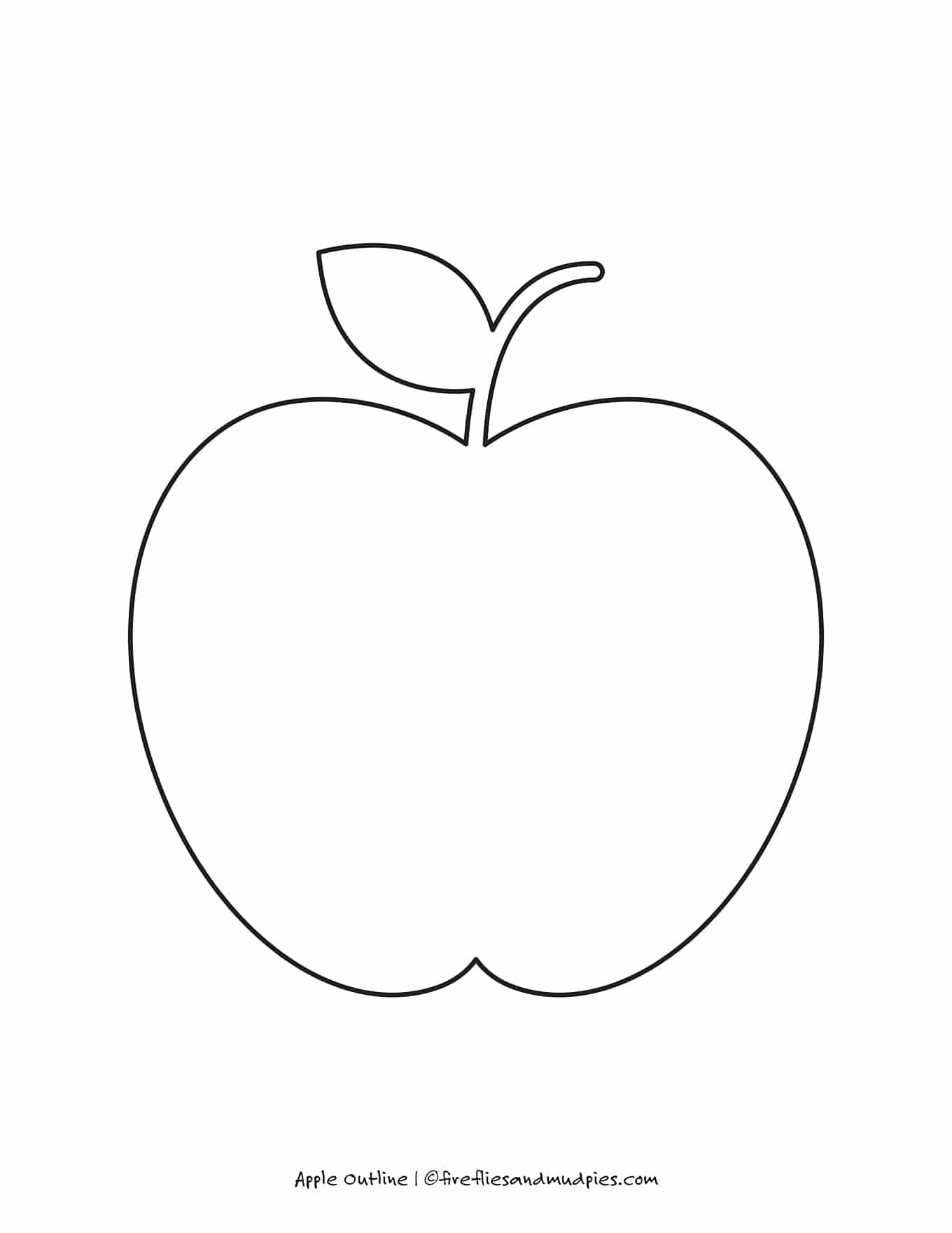 Free Printable Apple Outline For Crafts Apple Outline Apple Prints Apple Template