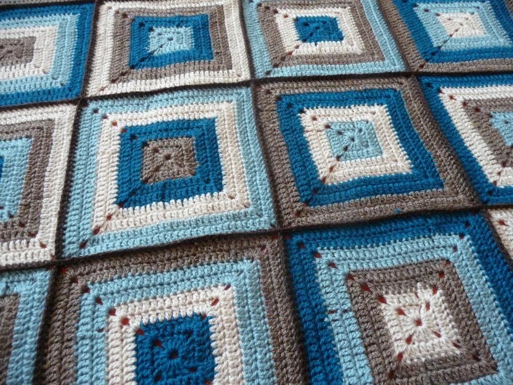 Úžitkový textil - modrá kockovaná - 1881498