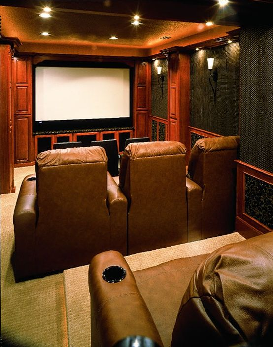 Third Floor Just Won T Be Big Enough For All These Pinterest Ideas Small Home Theaters Home Theater Seating Home Theater Rooms