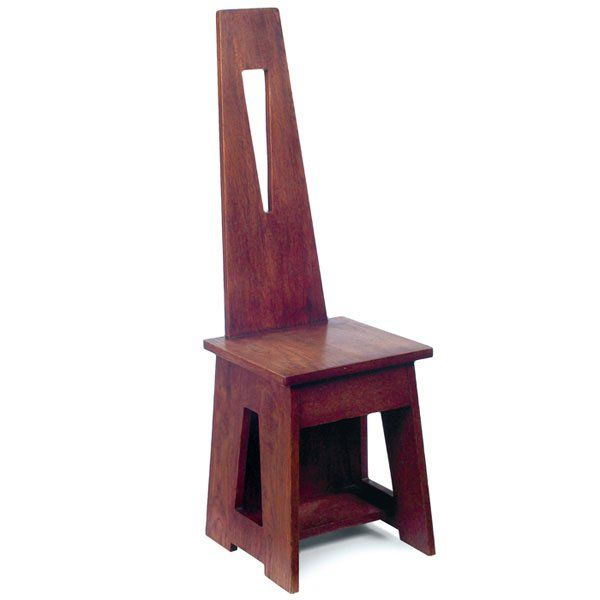 Attirant Limbert Hall Chair, #81, Dramatic Design With A Tapered Back And Over A