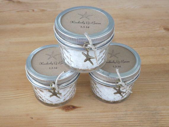 bridal shower mason jar favors Beach Wedding Favors Mason Jar