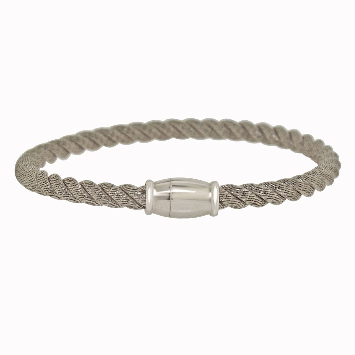 Womenus sterling silver italian twisted cable bangle bracelet