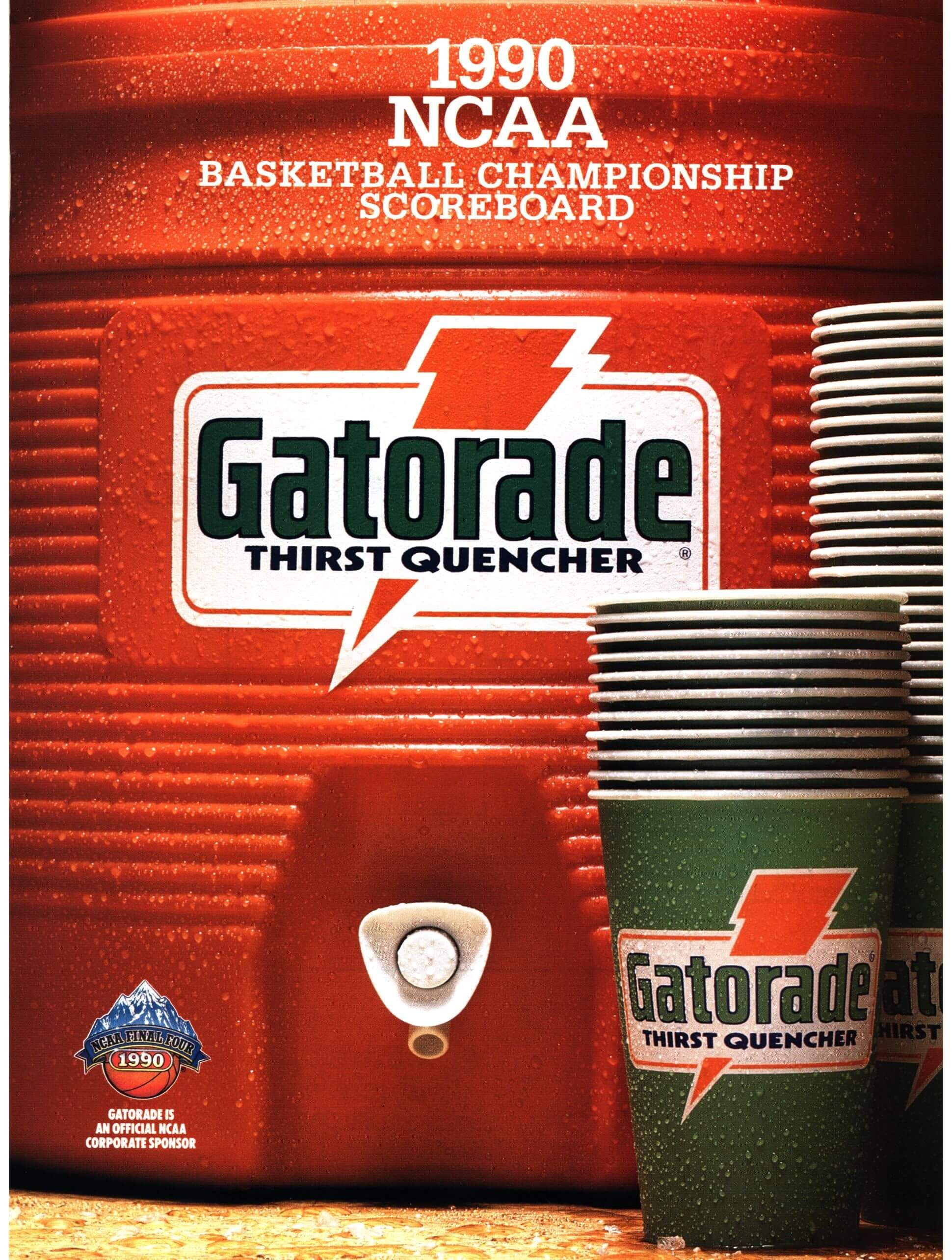 Gatorade 1990 NCCA Championship Ad // Sports Studio Retro
