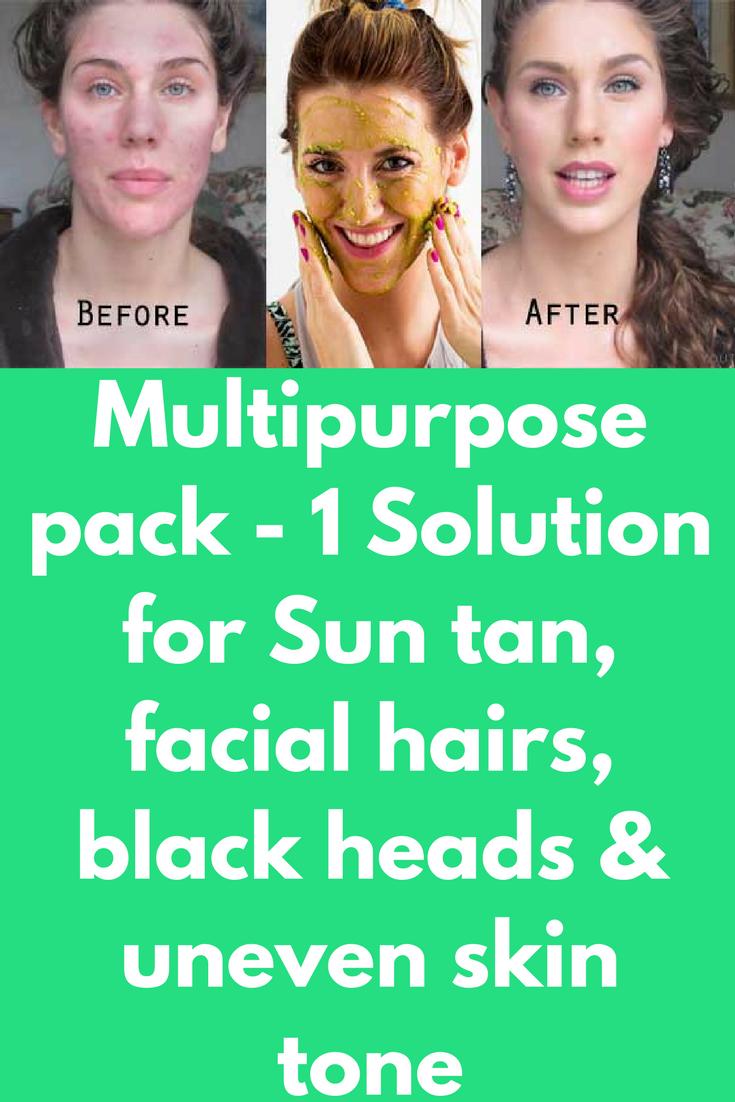 Multipurpose pack   Solution for Sun tan facial hairs black
