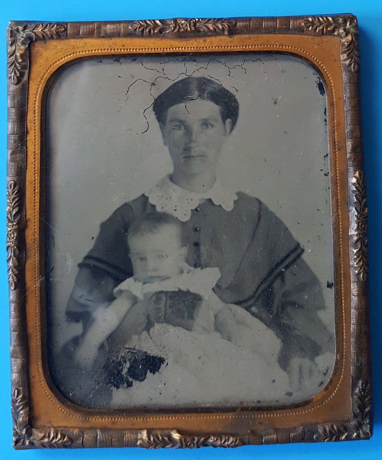 Antique Ambrotype of Beautiful Woman Holding Her Baby 1860'S | eBay