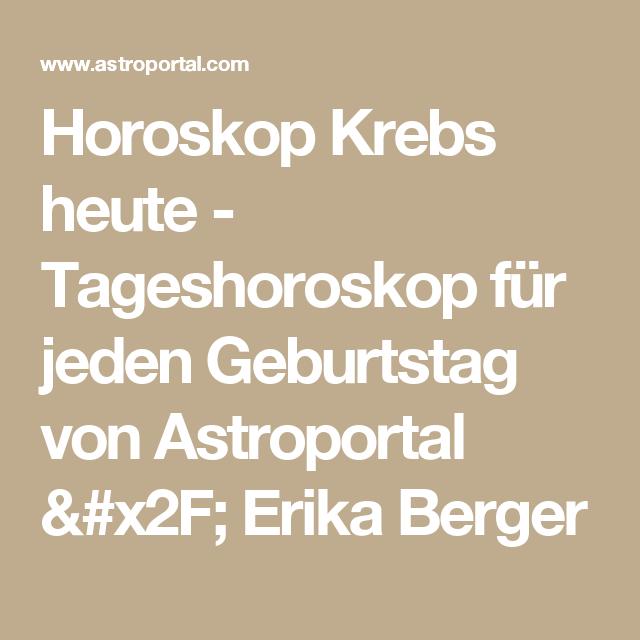 Horoskop Krebs Morgen Erika Berger