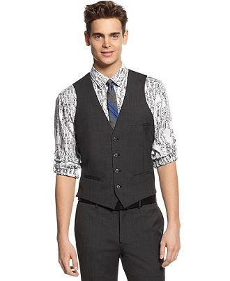 Bar Iii Vest Dark Charcoal Slim Fit Mens Vests Men 69 99 Macys