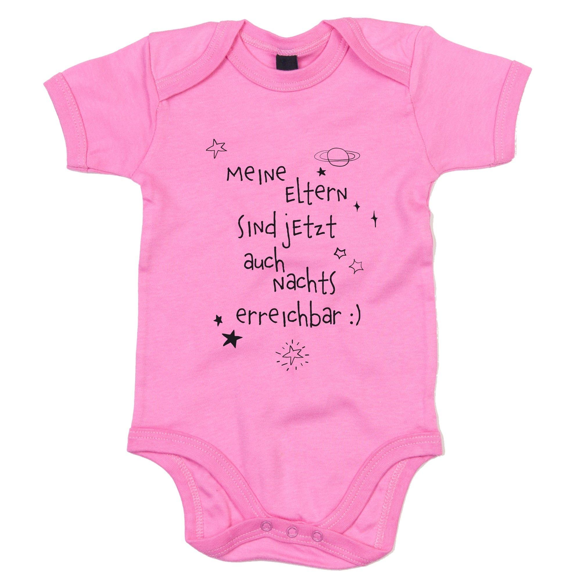 Baby Body – Meine Eltern sind jetzt auch Nachts erreichbar rosa-schwarz 62-68