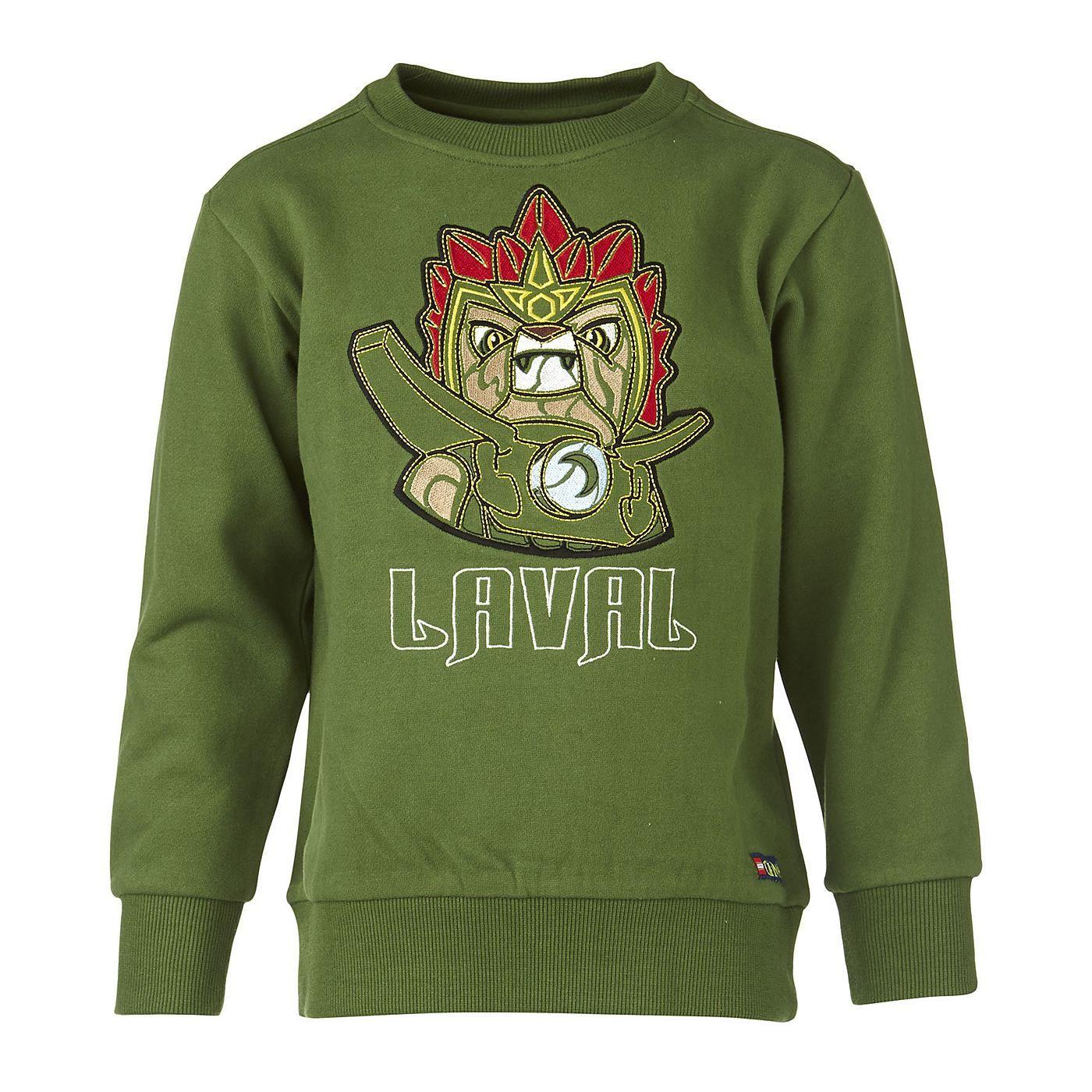 """Sweatshirt - Legends of Chima """"Laval""""    Laval ist der Prinz des Löwenstammes. Früher war er sehr stur und meist nur daran interessiert, viel Spaß zu haben. Jetzt gibt es die LEGO-Helden auch zum Anziehen.   Sollten Sie den passenden begeisterten Jungen dazu haben, muss dieses Sweatshirt in seinen Kleiderschrank.    LEGO® Wear Chima Kinder Sweatshirt mit folgenden Besonderheiten:    - Thema: LE..."""