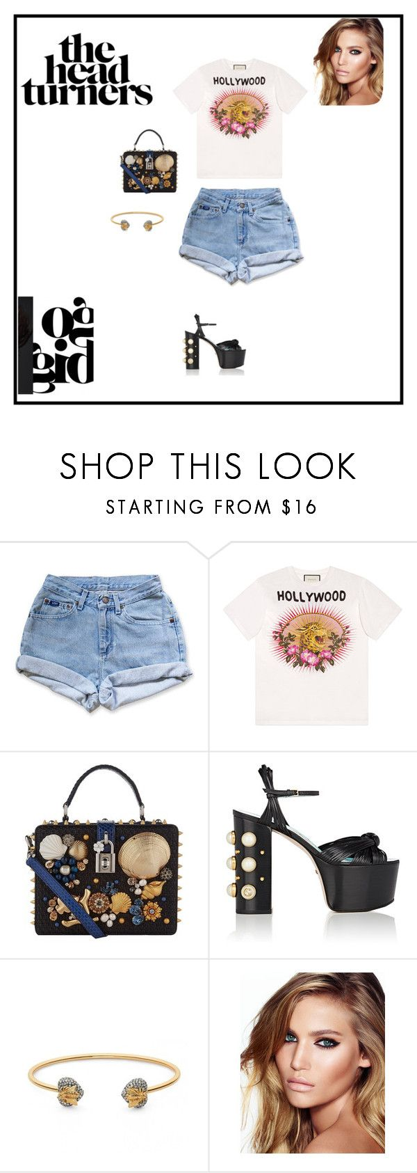 """""""Untitled #49"""" by sb187 ❤ liked on Polyvore featuring Levi's, Gucci, Dolce&Gabbana and Charlotte Tilbury"""