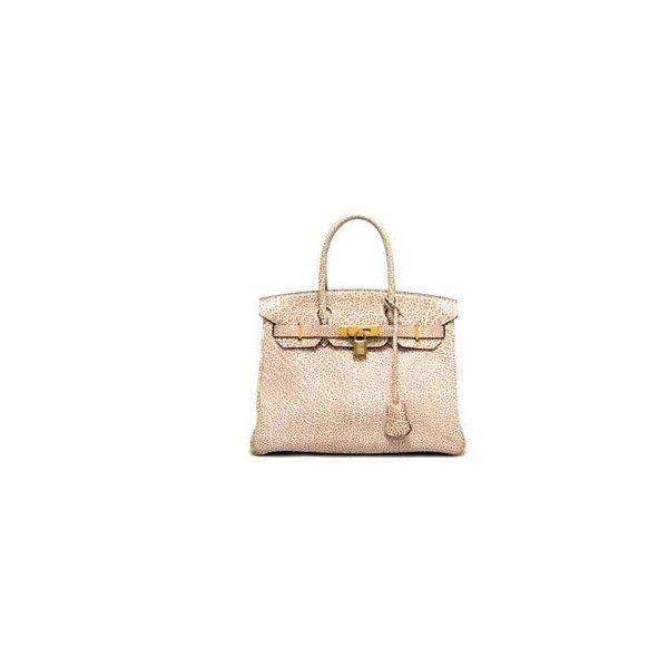 c2e639c1b424 Hermes   Birkin 30 ☆ Dalmatian   Pink Dalmatian (Rouge Ash)  Brand... ❤  liked on Polyvore
