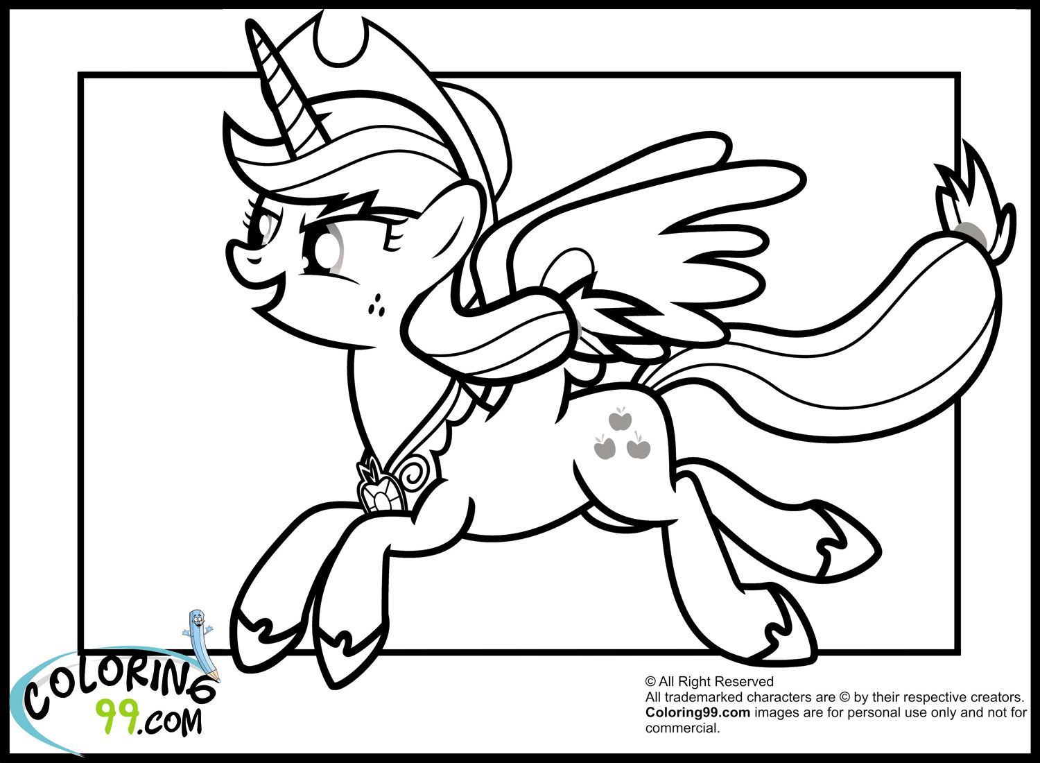 My little pony coloring pages youtube - My Little Pony Applejack Coloring Pages Team Colors