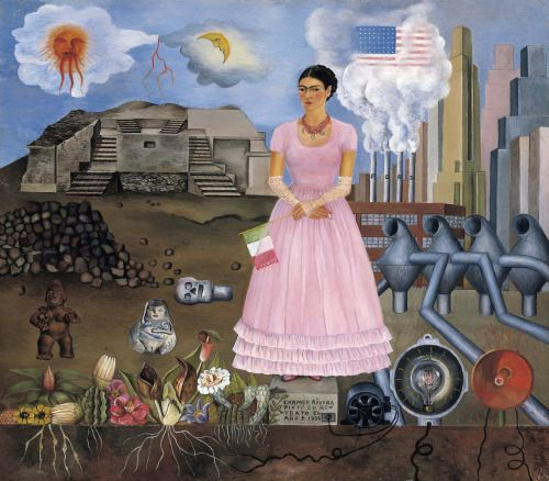 Frida Kahlo - Self-Portrait on the Borderline between Mexico and the United States (1932)