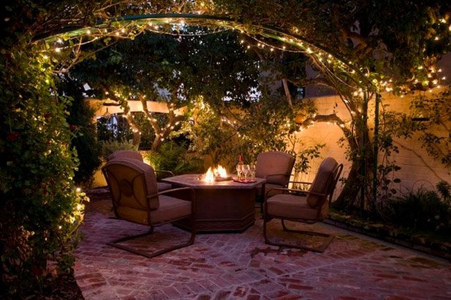 Patio String Lights Classy Patio With String Lights  Desert House  Pinterest  Patios Design Ideas